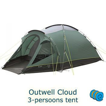 Outwell koepeltent Cloud 3   wehkamp