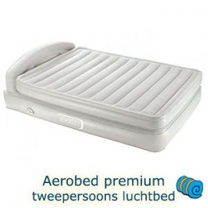 Aerobed premium tweepersoons luchtbed met hoofdbord